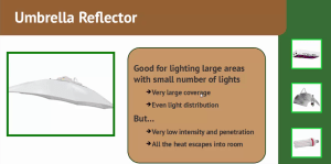 HID Umbrella Reflector