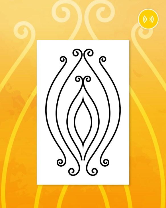 Tatuaż na 3 czakrę (splotu słonecznego)
