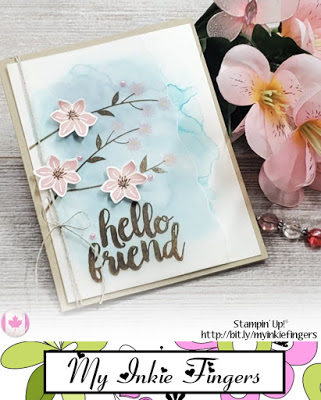 Stamping On Vellum and How To hide the Glue | Stampin Up