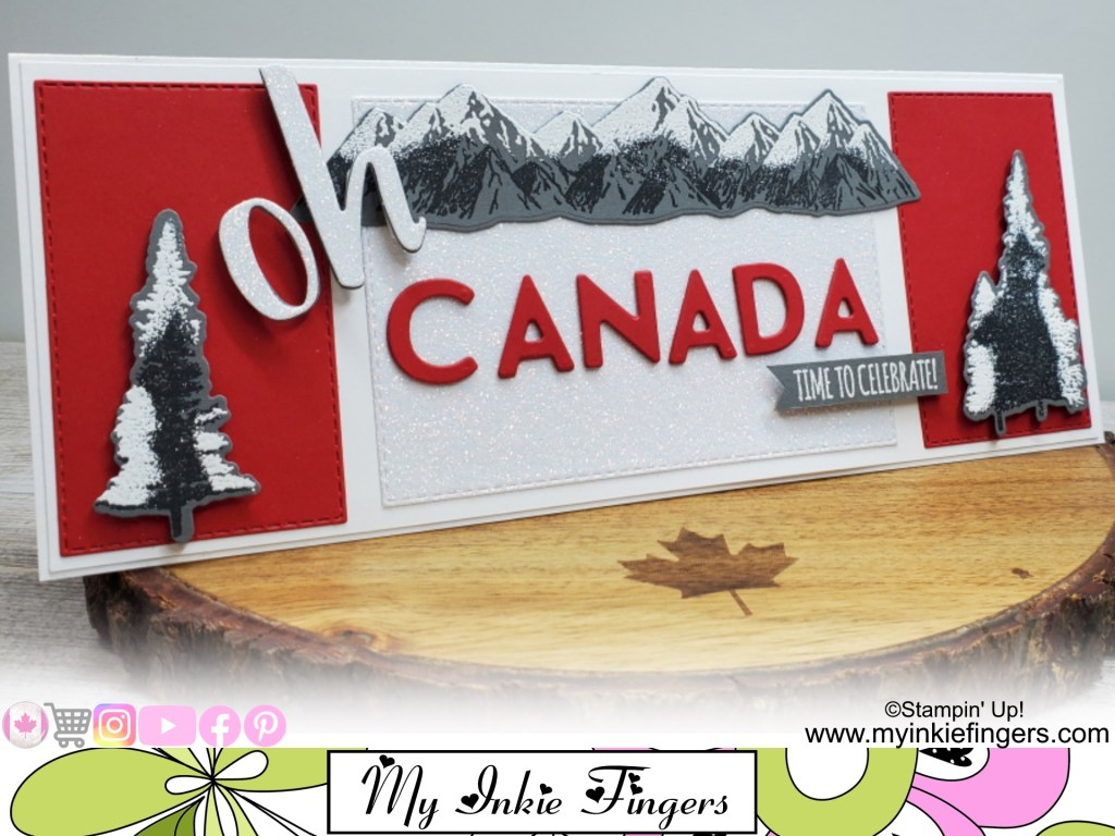 Oh Canada Happy Canada Day Slimline Card