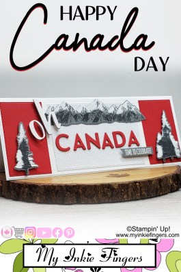 Oh Canada Happy Canada Day Slimline Card