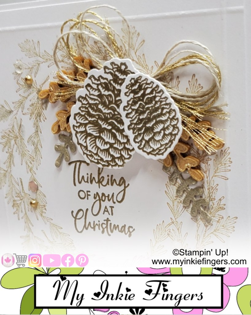 Christmas in July Handmade Classy Wreath Christmas Card Stampin' Up! Christmas Card