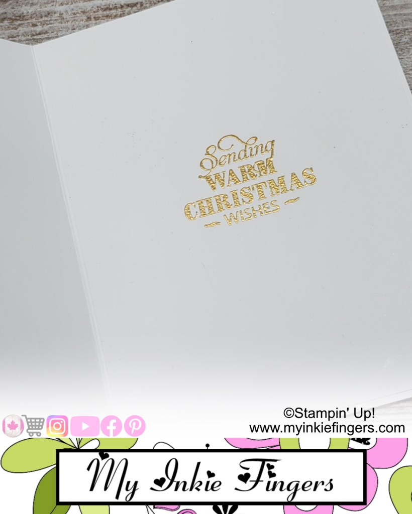 Christmas in July Handmade Classy Wreath Christmas Card Stampin' Up! Christmas Card Inside