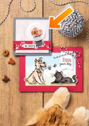 CASE (Copy & Share Everything!) with my Tutorial - Humorous Get Well Card - Stampin' Up Card - Playful Pets Suite
