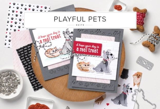 Playful Pets Suite - Stampin' Up! Card ideas on my Blog!