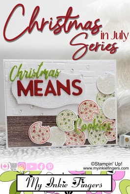 Christmas Means Cookies Card Stampin' Up! 2020 Christmas Card