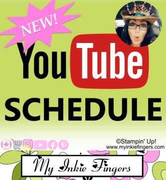 New YouTube Upload Schedule - My Inkie Fingers