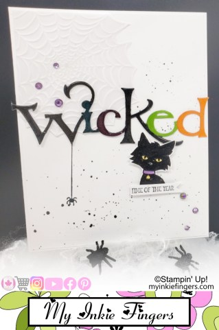 Cat Halloween Card Layering Die Cuts Spider Halloween Card Stampin Up
