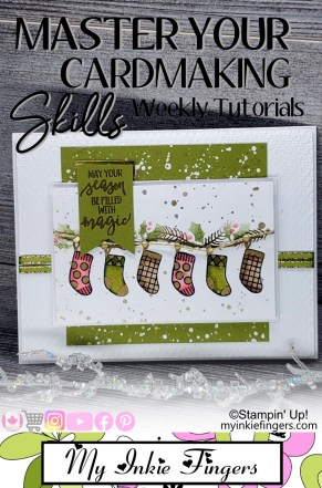 A Merry Hello Host Stamps Stampin Up Christmas Card 2020