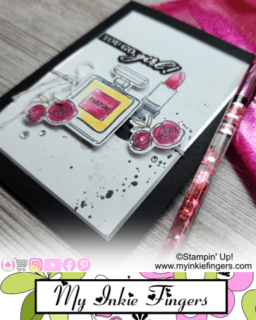 30 Cards in 30 Days My Inkie Fingers Day 1 Girlie Fashion Card
