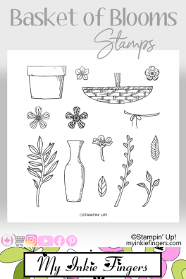 Stampin Up Basket of Blooms Stamps