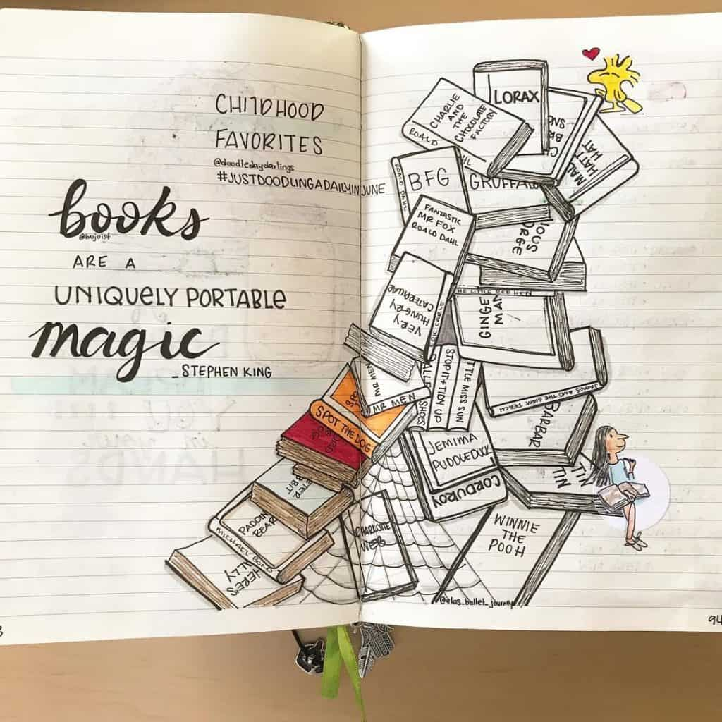 23 Creative Book And Reading Trackers For Your Bullet Journal