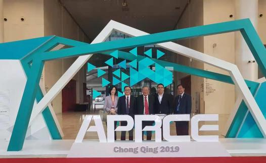 MRA's delegation attended the 19th APRCE. From left are Honorary Secretary Ms. Cynthia Hwang, President Mr. James Loke, Honorary President Tan Sri William Cheng, Council Member and Youth Wing Chairman Mr. Wong Joon Quin and Deputy President Mr. Law Boon Eng.