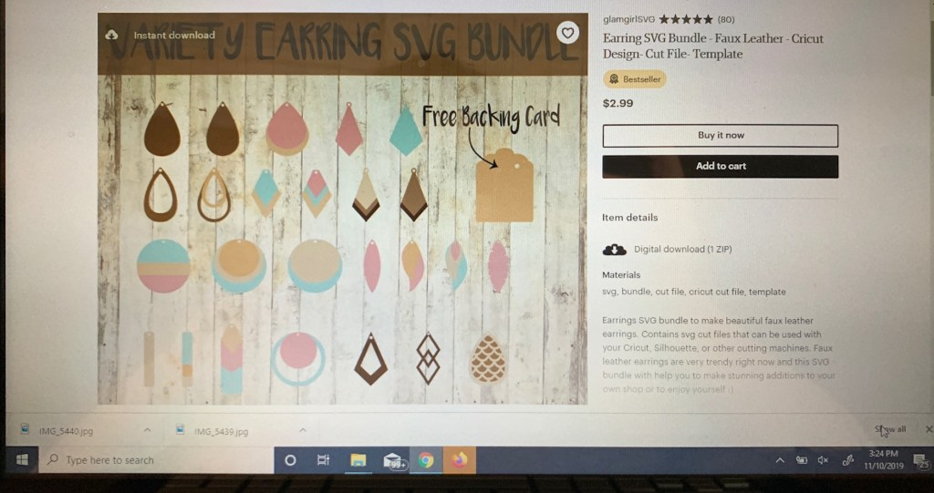 SVG file website Glam Girl