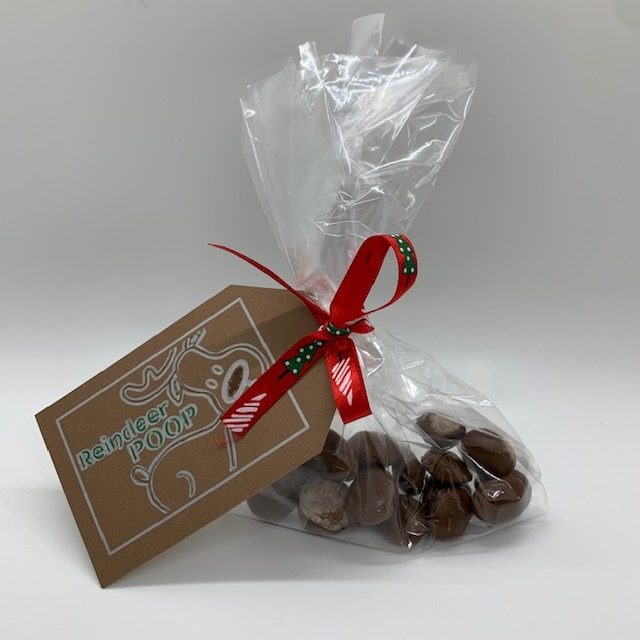 """reindeer poop, candy """"poop"""" for Christmas, the perfect item for a Christmas Care Package"""