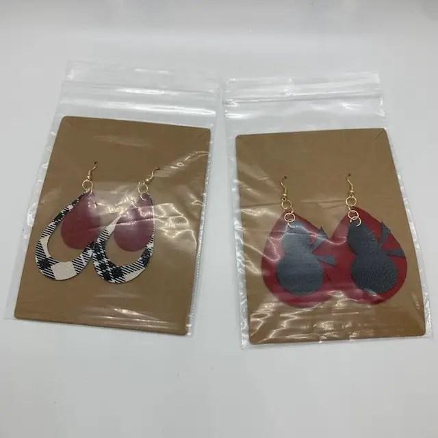 DIY earrings for Christmas Care package