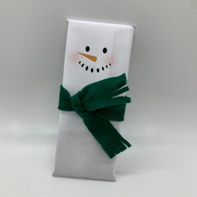 Snowman Wrapper on Hershey Bar, for a Christmas Care Package