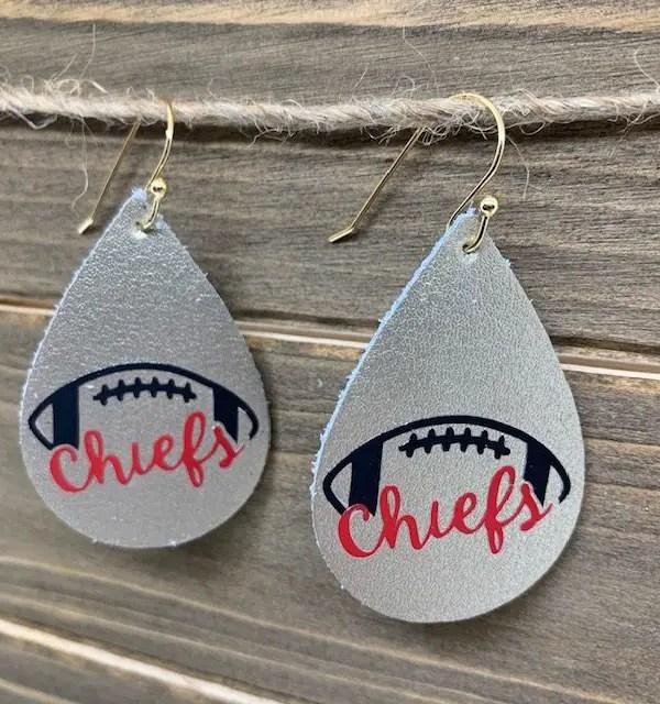 KC Chiefs DIY Earrings