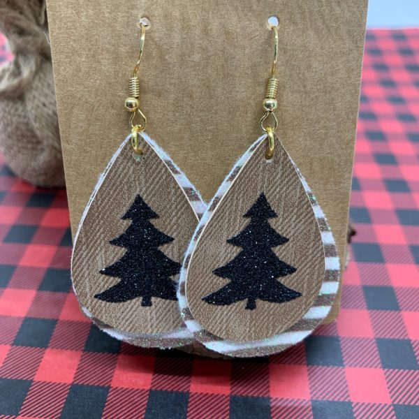 faux leather christmas earring ideas