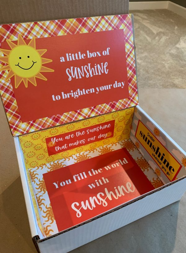 sunshine care package with free printables