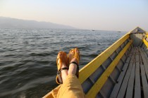 Feeling yellow on the lake