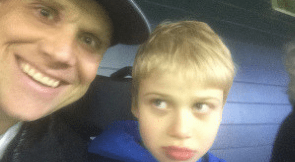 Me and Bryson at Game 5 of the 2015 ALDS Toronto Blue Jays vs. Texas Rangers.