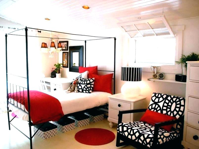 imm black white red bedroom red gold