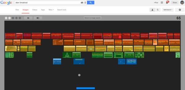 Google Trick Breakout Game