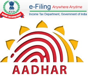 How does Aadhar Card based IT electronic verification process work