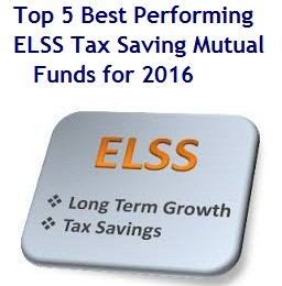 Top 5 Best Performing ELSS Tax Saving Mutual Funds for 2016