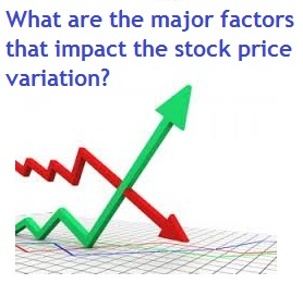 What are the major factors that impact the stock price variation