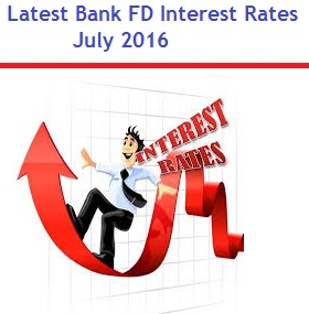 Latest Bank FD Interest Rates in India-July 2016