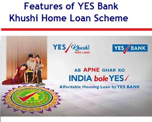 Features of YES Bank Khushi Home Loan Scheme