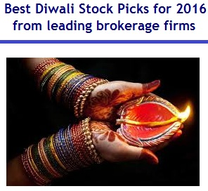 Best Diwali Stock Picks for 2016 from leading brokerage firms for muhurat trading