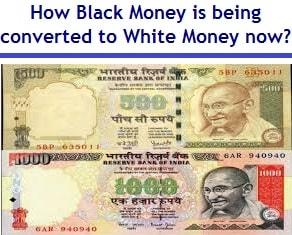 converting black money to white money