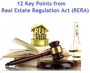 12 Key Points from Real Estate Regulation Act (RERA)