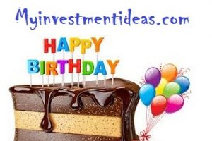 My name is myinvestmentideas and I am celebrating 5th birthday – Wish me please
