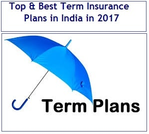 Top 7 Best Term Insurance Plans in 2017 in India