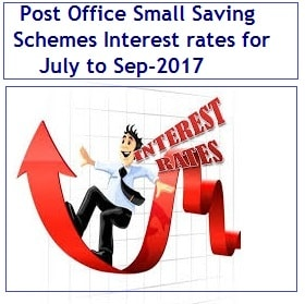 Post Office Small Saving Schemes Interest rates for July to Sep-2017