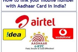 How to link your mobile number with Aadhaar Card in India?