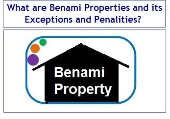 What are Benami Properties and its Exceptions and Penalities-min