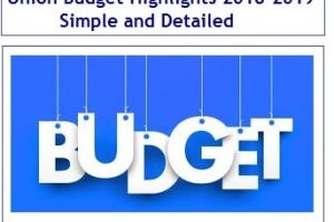 Union Budget Highlights 2018-2019 – Simple and Detailed