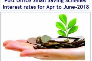 Latest Post Office Small Saving Schemes Interest rates for Apr to Jun-2018