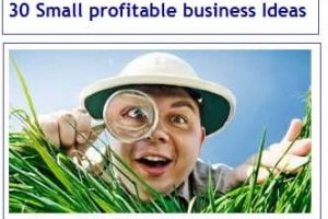 30 Small profitable business Ideas in India