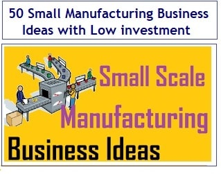 50 Small Manufacturing Business Ideas with Low investment-min