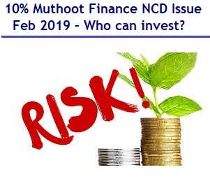 Muthoot Finance NCD Feb 2019 Issue details