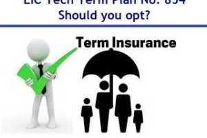 LIC Tech Term – Online Term Insurance Plan No. 854 Review