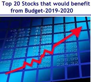 Top 20 Stocks that would benefit from Budget-2019
