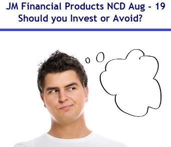 JM Financial Products NCD August 2019 Review