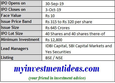 IRCTC IPO Schedule and Issue details